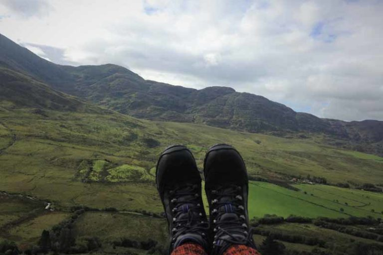 On the hike to Carrantuohill – sheep, elephants and myself